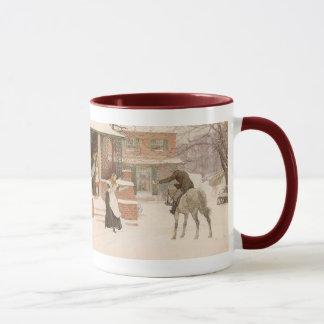 マクベス著郵便集配人に挨拶するヴィンテージのビクトリアンな芸術 マグカップ