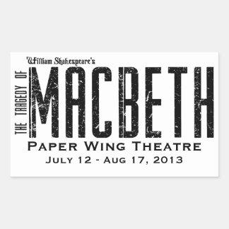 マクベス-ペーパー翼の劇場-ステッカー 長方形シール