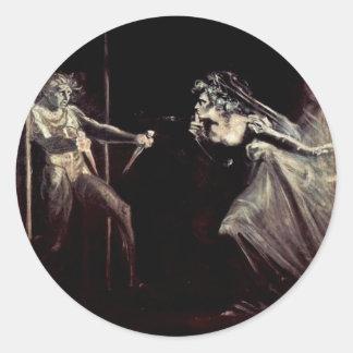 マクベスReceives DaggersのマクベスTa女性女性 ラウンドシール