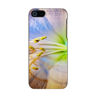 マクロアマリリスの花の写真 メタリックiPhone SE/5/5sケース