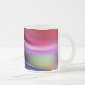 マクロカラフルの紙の写真の虹 フロストグラスマグカップ