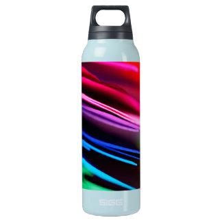 マクロカラフルの紙の写真の虹 断熱ウォーターボトル