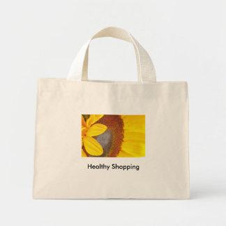 マクロヒマワリのバッグ ミニトートバッグ