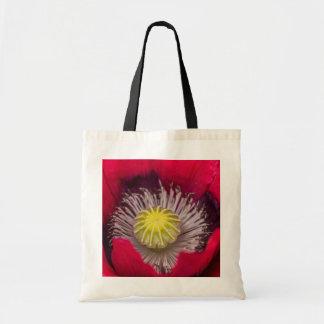 マクロピンクおよび紫色のケシの花 トートバッグ