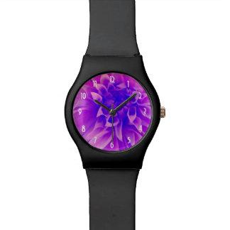 マクロピンクの花 腕時計