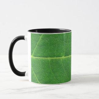 マクロ写真の葉 マグカップ