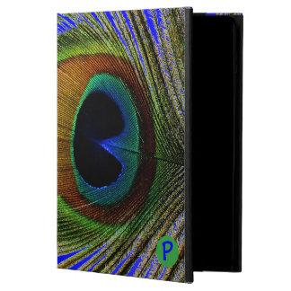 マクロ写真のiPadの空気の実質の孔雀の羽 iPad Airケース