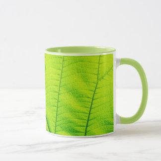 マクロ緑の葉のマグ マグカップ