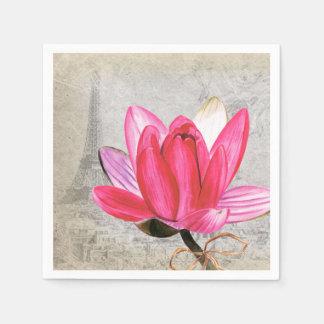 マクロ花のはす スタンダードカクテルナプキン