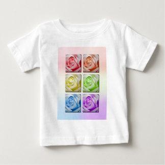 マクロ虹のバラ ベビーTシャツ