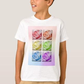マクロ虹のバラ Tシャツ
