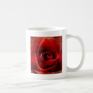 マクロ赤いバラ コーヒーマグカップ