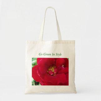 マクロ赤いバラ、スタイルの環境にやさしいことをしよう トートバッグ