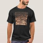 マクロ銅の抽象芸術 Tシャツ