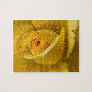 マクロ黄色バラ ジグソーパズル