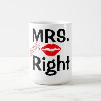 マグか夫人は赤い唇によって常に訂正します コーヒーマグカップ
