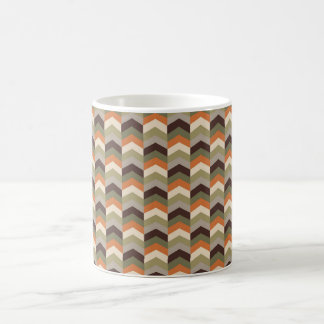マグのためのサファリのシェブロンパターン コーヒーマグカップ