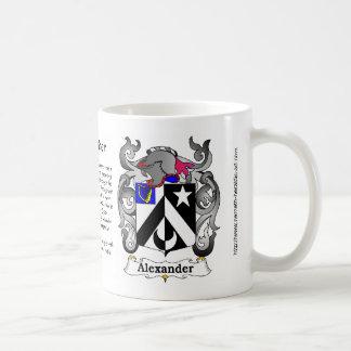 マグのアレキサンダーの家紋 コーヒーマグカップ