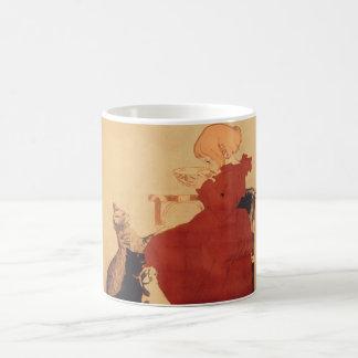 マグのコーヒーカップのココアココアの女の子猫 コーヒーマグカップ
