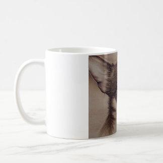 マグのチワワのスケッチ コーヒーマグカップ