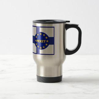 マグのフィンランドの旗EU Fexit トラベルマグ