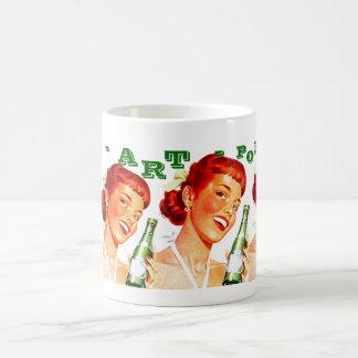 マグのレトロのおもしろいはポップアートのソーダエコーのノスタルジアを罰します コーヒーマグカップ