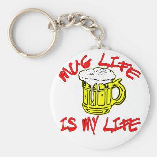 マグの生命はです私の生命(ビール) ベーシック丸型缶キーホルダー