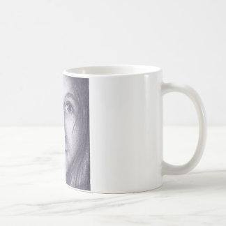 マグの芸術の小さな女の子の青い目 コーヒーマグカップ