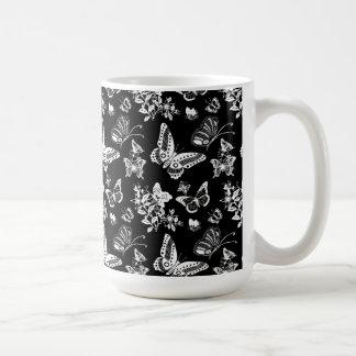 マグの蝶デザイン コーヒーマグカップ