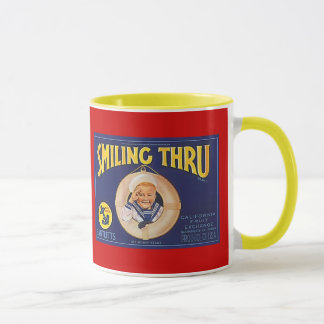 マグの~のヴィンテージのバートレットナシのラベルの~の少年水夫 マグカップ
