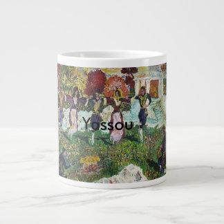 マグのGrecianフェスティバルYassou /Sarr ジャンボコーヒーマグカップ