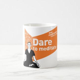 マグをめい想することを敢えてして下さい コーヒーマグカップ