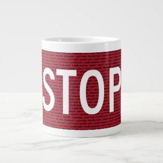 マグをストップ ジャンボコーヒーマグカップ