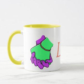 マグを握るポップアート手 マグカップ