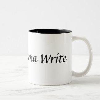 マグを書くことを行っている作家 ツートーンマグカップ