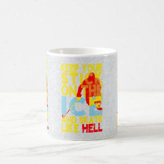 マグを言うアイスホッケー コーヒーマグカップ