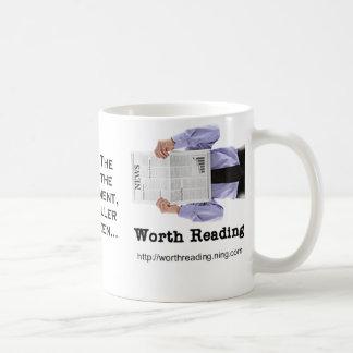 マグを読むことの価値を持って コーヒーマグカップ