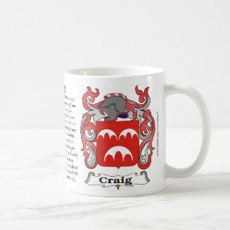 マグクレイグ家族の紋章付き外衣 コーヒーマグカップ