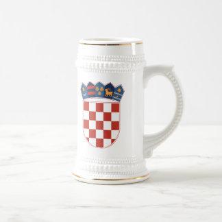 マグクロアチアの紋章付き外衣 ビールジョッキ