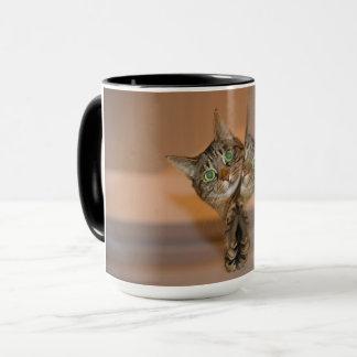 、マグコンボ、カスタムイメージ、猫、黒、ハンドル、縁 マグカップ