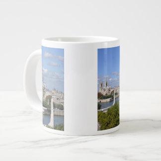 マグジャンボパリ-ノートルダム大聖堂、フランス ジャンボコーヒーマグカップ