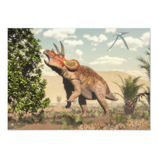 マグノリアの木のトリケラトプスの食べ物- 3Dは描写します カード