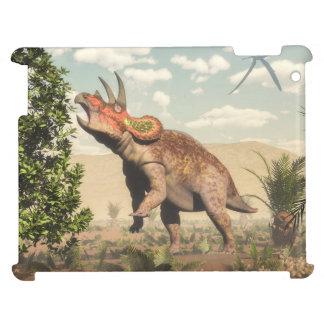 マグノリアの木のトリケラトプスの食べ物- 3Dは描写します iPad CASE