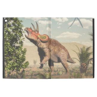 """マグノリアの木のトリケラトプスの食べ物- 3Dは描写します iPad PRO 12.9"""" ケース"""