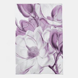 マグノリアの紫色の夢 キッチンタオル