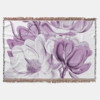 マグノリアの紫色の夢 スローブランケット