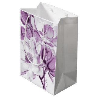マグノリアの紫色の夢 ミディアムペーパーバッグ