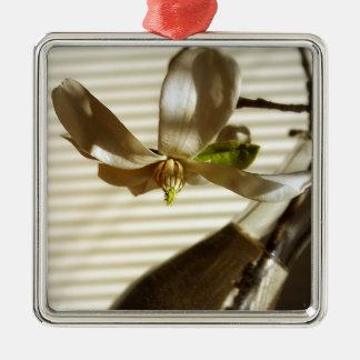マグノリアの花のオーナメント メタルオーナメント