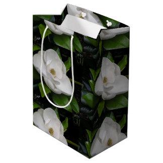 マグノリアの花のギフトバッグ ミディアムペーパーバッグ