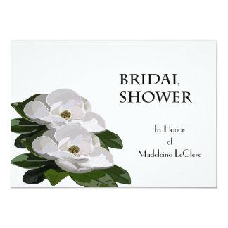 マグノリアの花のブライダルシャワーの招待状 12.7 X 17.8 インビテーションカード